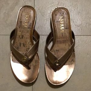 Ralph Lauren Gold Sandals